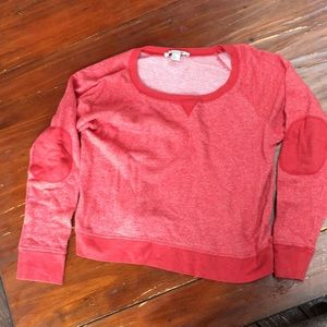 Forever 21 crew neck w/ elbow patches sz L
